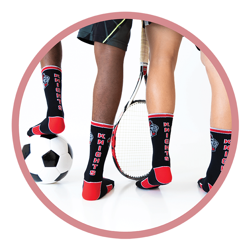 athletic socks by Spirit Sox
