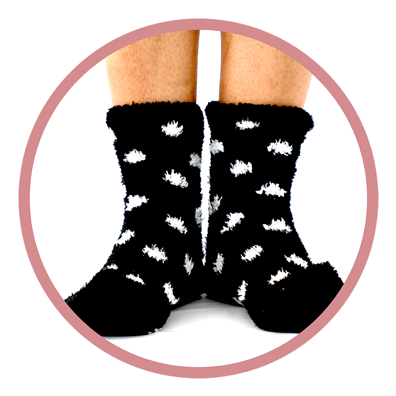 fuzzy socks by Spirit Sox