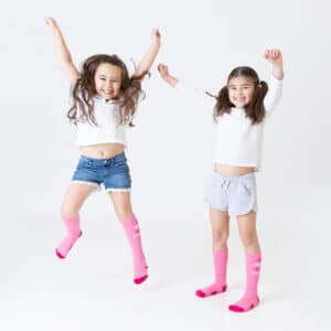 pink socks made by Spirit Sox