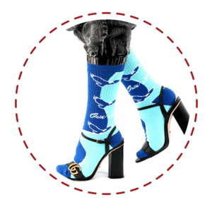 blue and turquoise socks by Spirit Sox