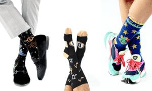 solar system socks, custom socks for a school band, custom socks for a camp