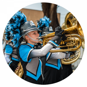 girl in a marching band