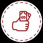 handful of money icon
